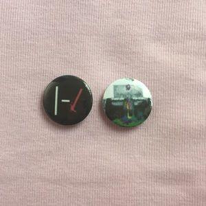 TWENTY ONE PILOTS TØP pins 2 pc